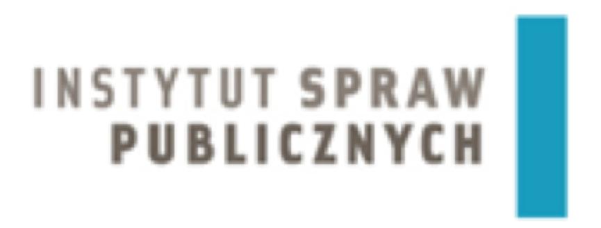 Logo w którym widnieje napis Instytut Spraw Publicznych